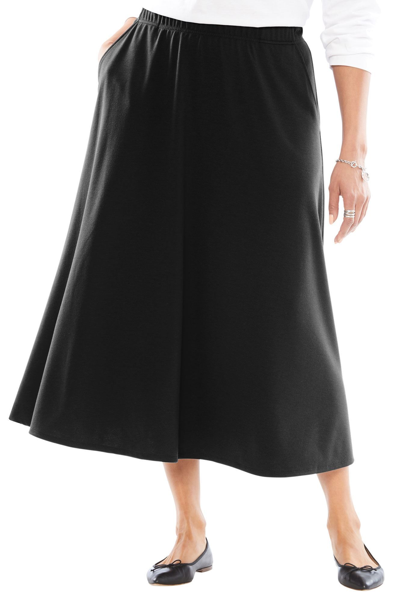 ff76d81b985 Petite A-Line Ponte Skirt - Women s Plus Size Clothing