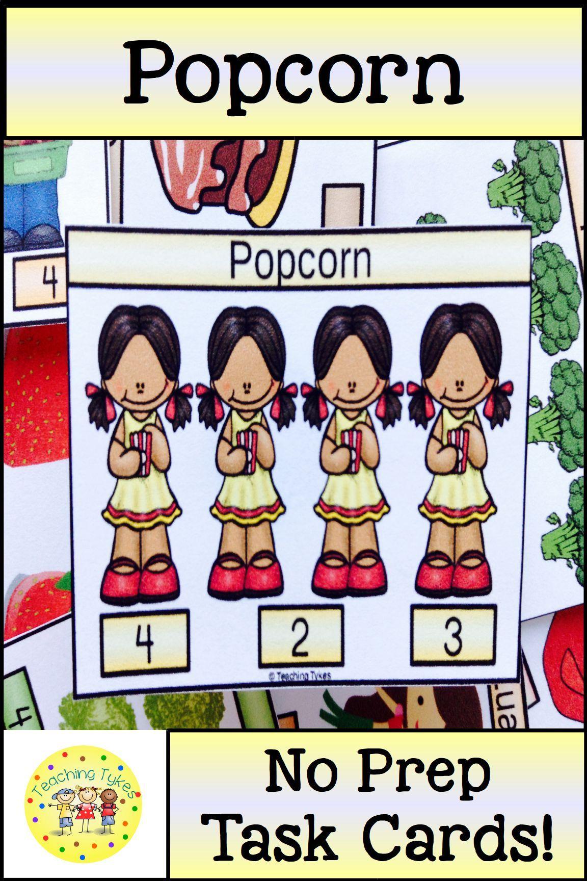 Popcorn Activity To Practice Counting Popcorn