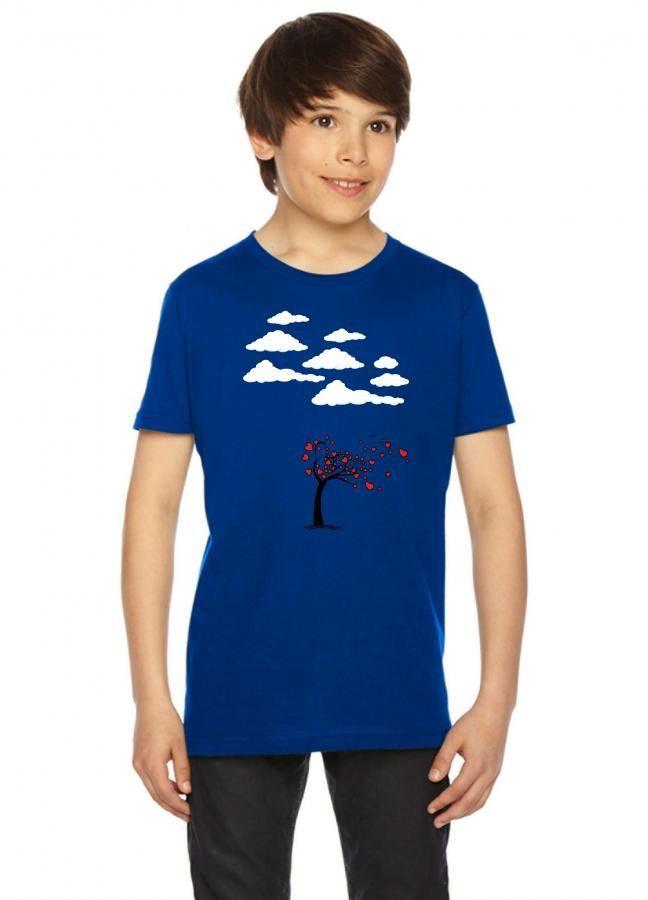 heart tree 1 blue Youth Tees