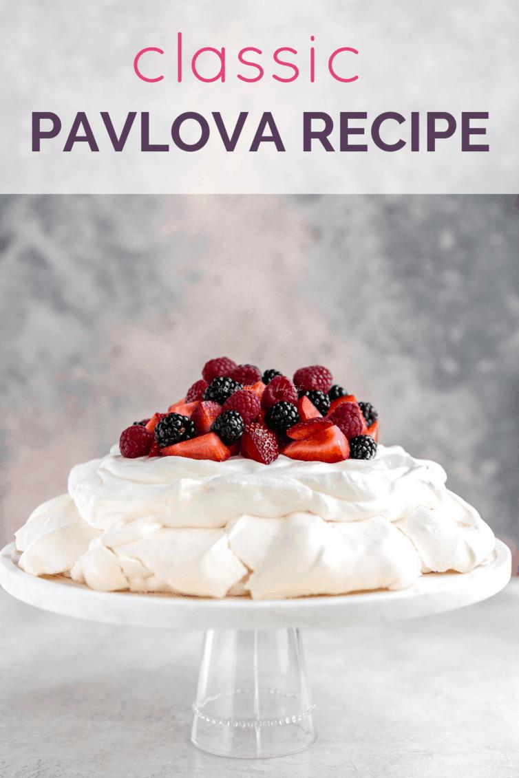 Classic Pavlova Recipe   Brown Eyed Baker