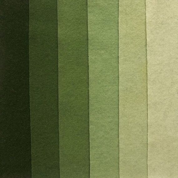 Hand Dyed Felted Wool Gradation Cypress Value Gradient In Etsy Green Kitchen Rug Green Aesthetic Sage Green Bedroom