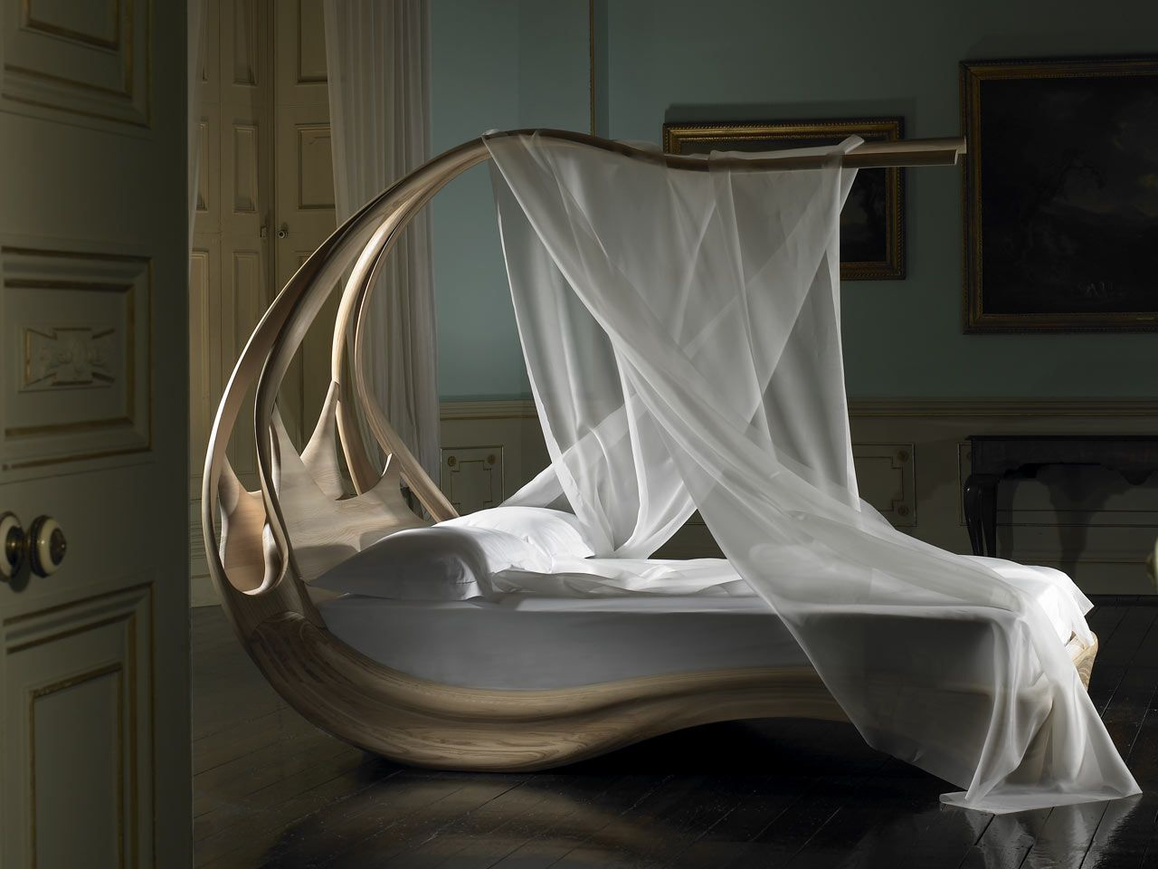 Sensual and Curvaceous Enignum Canopy Bed by Joseph Walsh ...