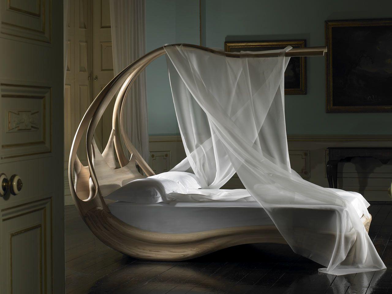 Enignum Canopy Bed by Joseph Walsh | Irish furniture maker Joseph Walsh creates something more akin & Sensual and Curvaceous Enignum Canopy Bed by Joseph Walsh | Canopy ...