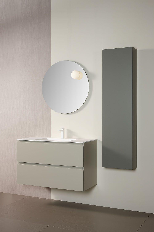 Mobiliario De Ba O Dica Modelo Zero En Color Lino Cenizo Y Lino