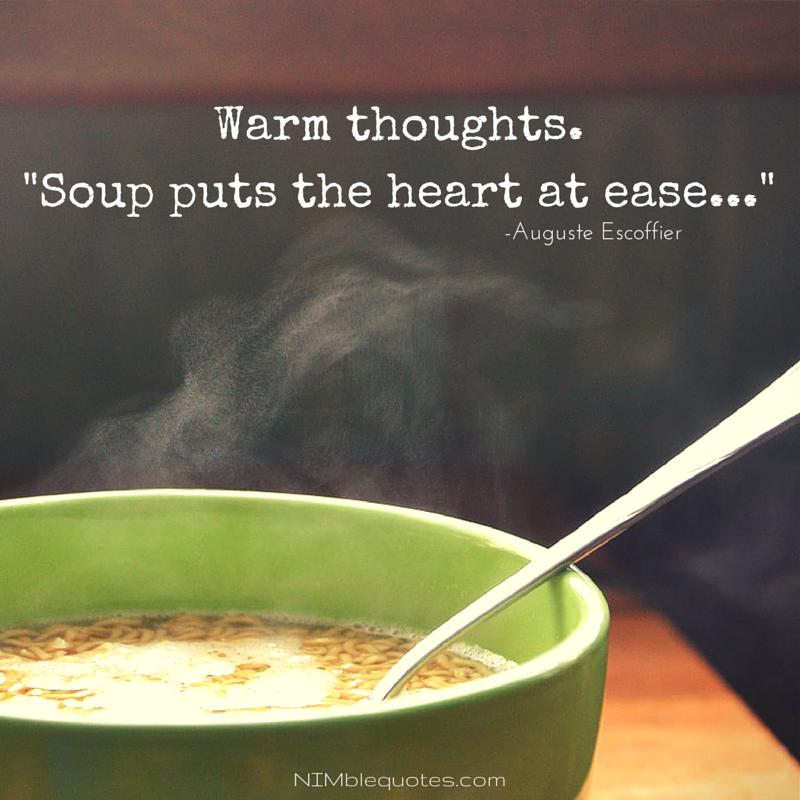 Soup Is Comfort Food Soepen