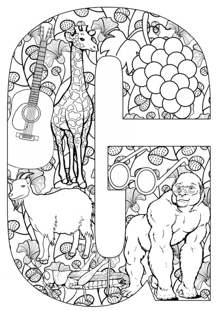 Letters Activities G Coloring Letters Printable Coloring Pages Coloring Pages