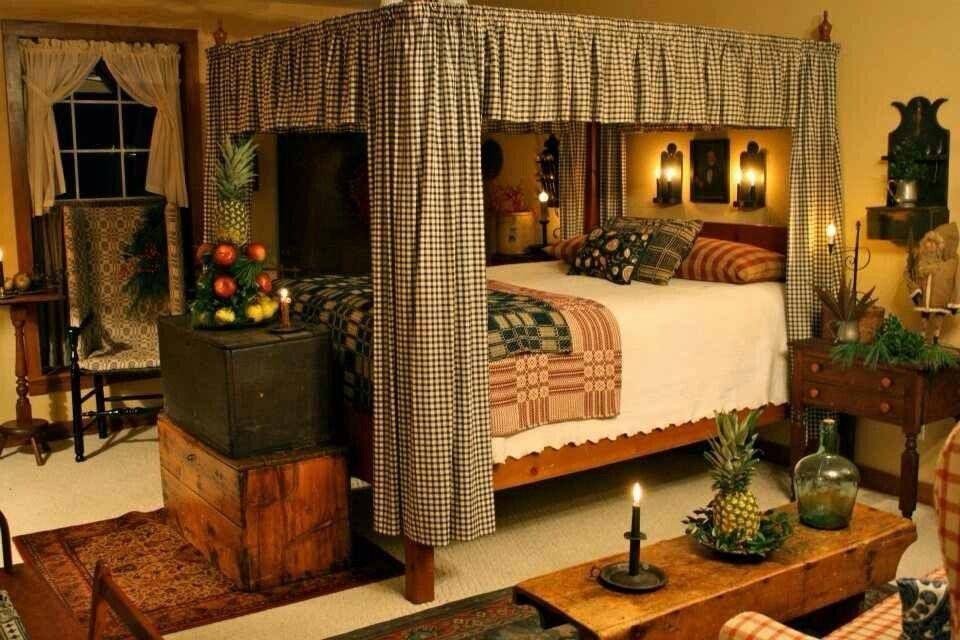 Country Living Primitive bedroom, Dream house decor