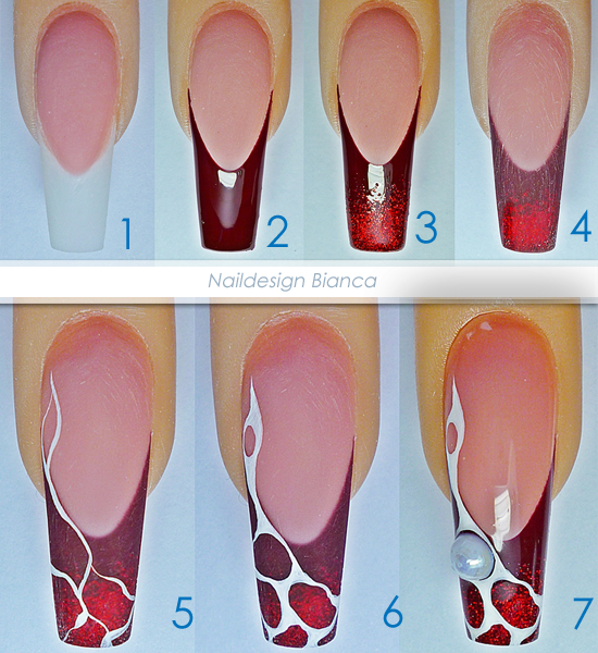 3d Acrylic Nail Art Step By Step: Nailart Anleitung Gelmodellage UV Gel