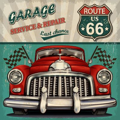 vintage car poster grunge style vector 01 vector car vector cover free download