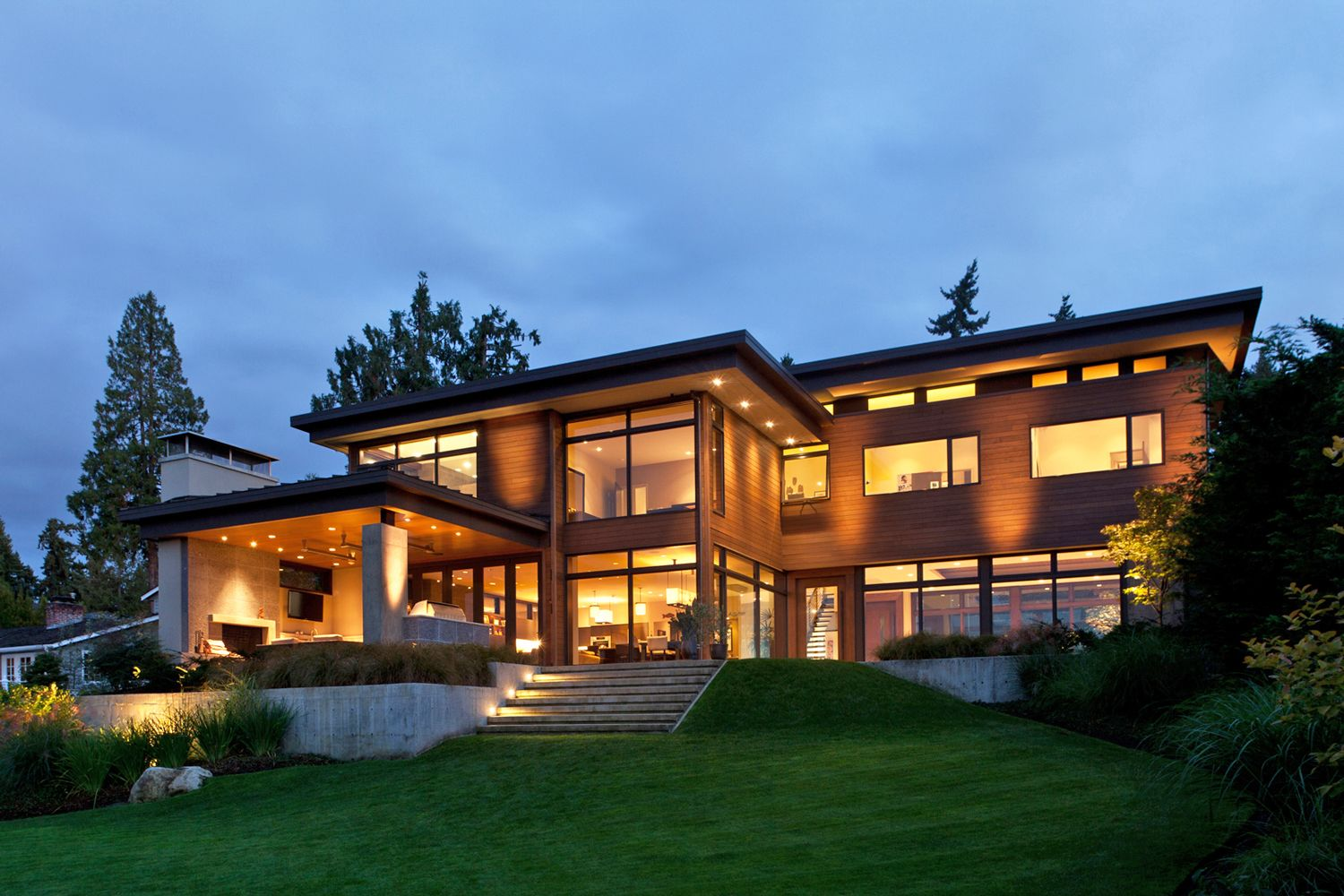 Contemporary Mercer Island lake house infused with Asian touches ...