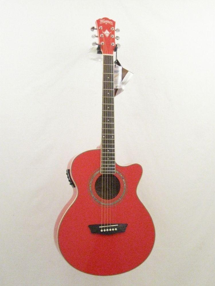 Washburn Festival Series Model Ea12r Red Acoustic Electric Guitar Blem 1009 Washburn Acoustic Electric Guitar Acoustic Electric Guitar