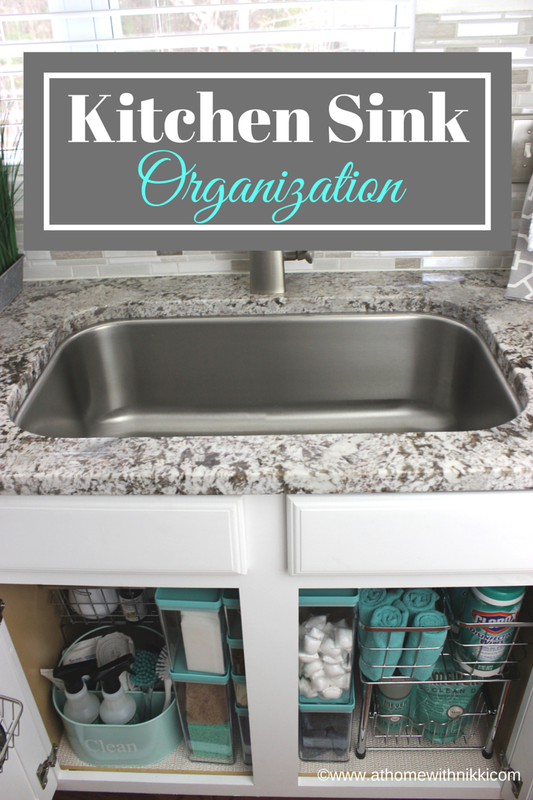20 Clever Kitchen Organization Ideas The Crafting Nook Kitchen Sink Organization Kitchen Organization Kitchen Cabinet Organization