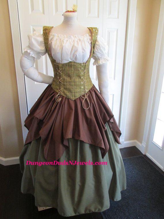 DDNJ Choose Fabrics Reversible Underbust Corset Style Bodice Renaissance Plus Custom Made ANY Size Gothic Vampire Gypsy Victorian Cosplay