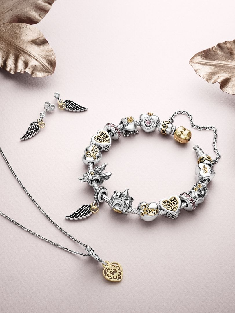 aea721c23 The perfect pieces for a complete fairy tale look! #PANDORA  #PANDORAnecklace #PANDORAearrings #PANDORAbracelet