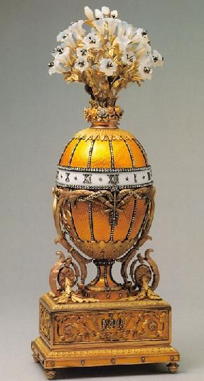 At the Kremlin Armoury in Moscow, one of ten Imperial Faberge Easter Eggs on display.