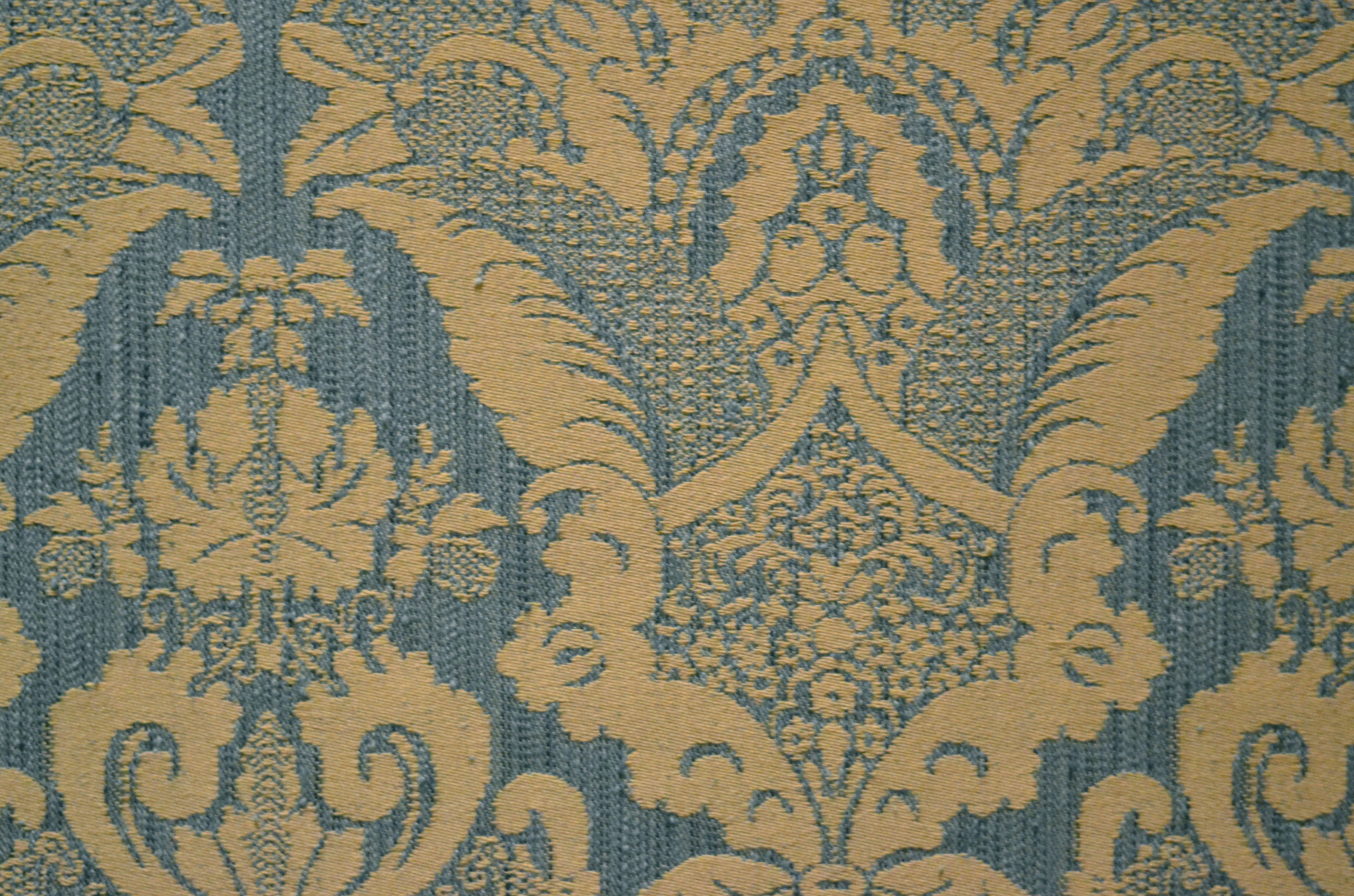 French Baroque Woven Wall Covering At Chateau De Chambord Loire Valley France