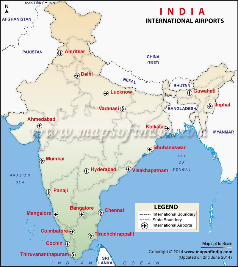 International airports map of india mumbaidelhilucknow international airports map of india mumbaidelhilucknow gumiabroncs Choice Image