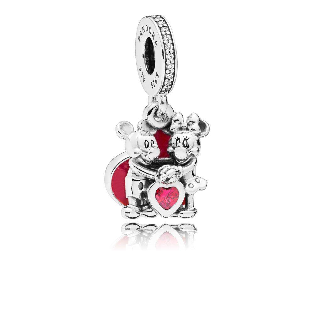 Pandora Disney, Minnie & Mickey With Love Charm - 797769CZR ...
