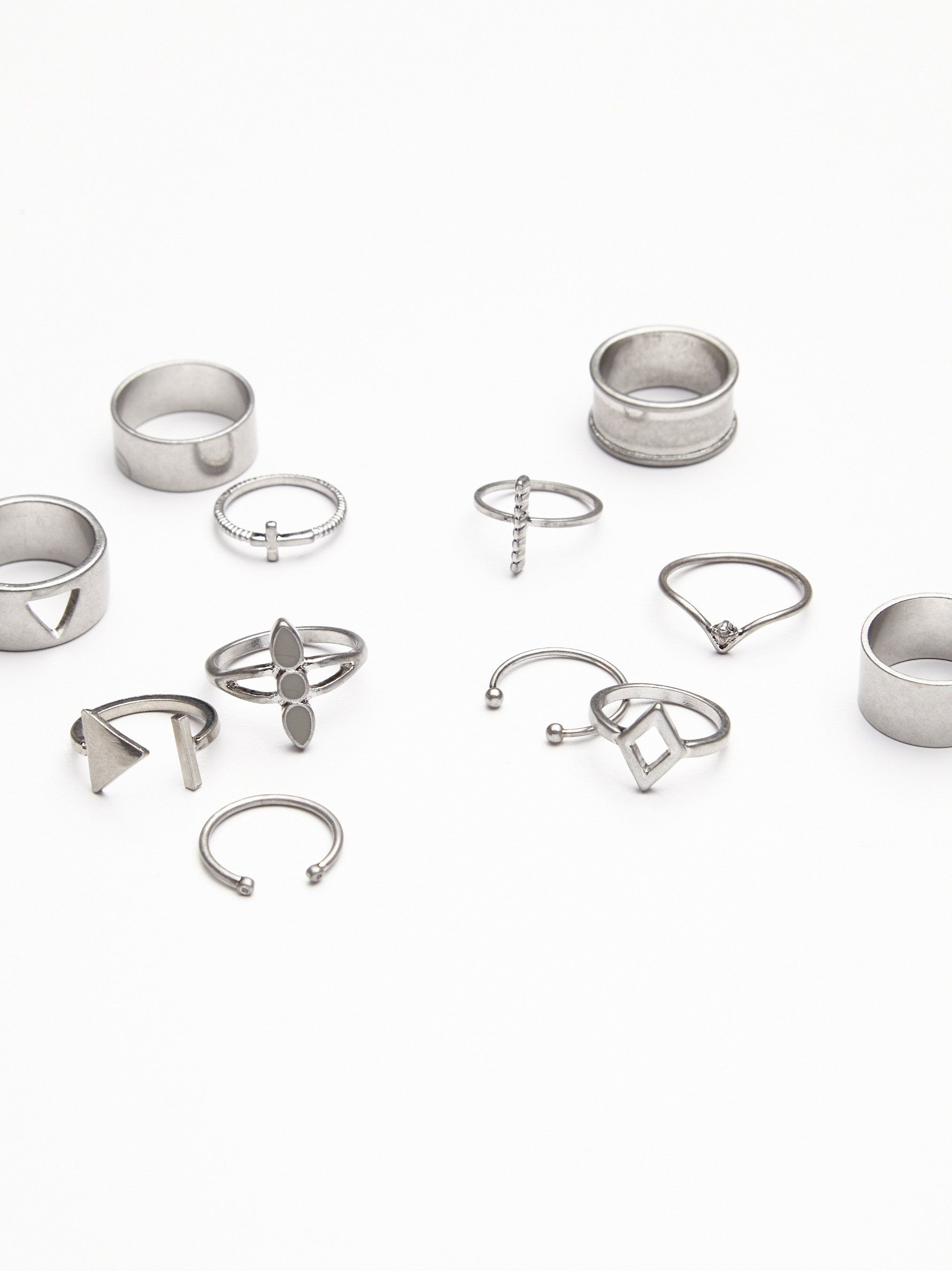 Mega Mix N Match Ring Set   Wear one or wear them all stack them high or one of every finger, the possibilities are endless with the mix and match ring set.