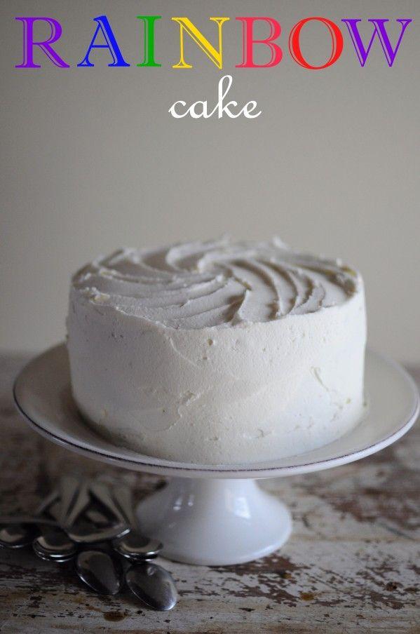 Recette du rainbow cake id e gateau gateau multicolore - Que mettre dans un gateau de couche ...