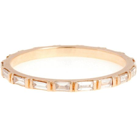 Zoe Womens White Diamond & Rose Gold Eternity Band cdb6g