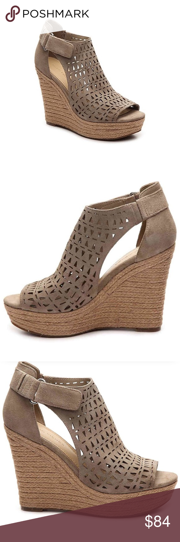 8015b48291d NWOB Marc Fisher Helina wedge sandal taupe sz 8 NWOB Marc Fisher Helina  wedge espadrille sandal taupe sz 8. The Helina is an espadrille wedge suede  sandal ...