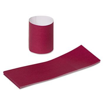 "Napkin Bands, Paper, Burgundy, 1 1/2"", 2000/carton"