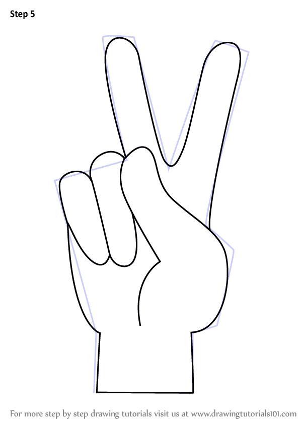 Learn How To Draw Peace Sign Hand Symbols Step By Step Drawing Tutorials Peace Sign Drawing Peace Sign Hand Hippie Drawing