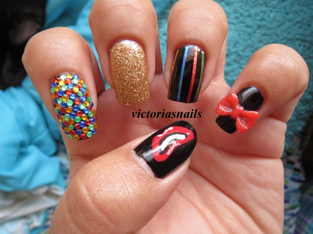 Nail art inspired by columbia from the rocky horror picture show nail art inspired by columbia from the rocky horror picture show did these last halloween prinsesfo Choice Image