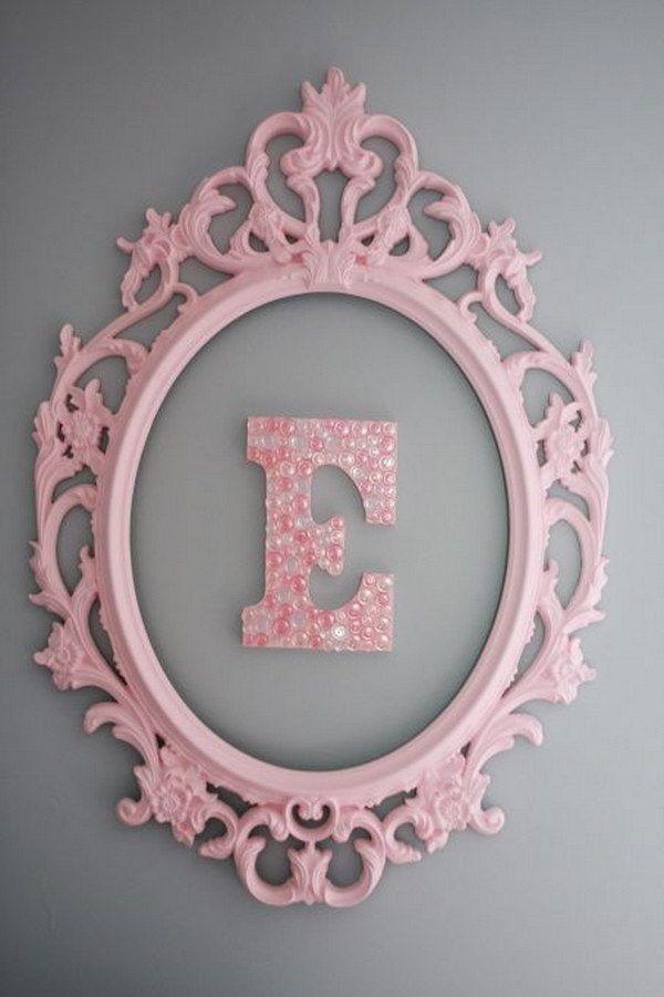Framed Monogram Wall Art | Dream home | Pinterest | Cuadros con ...