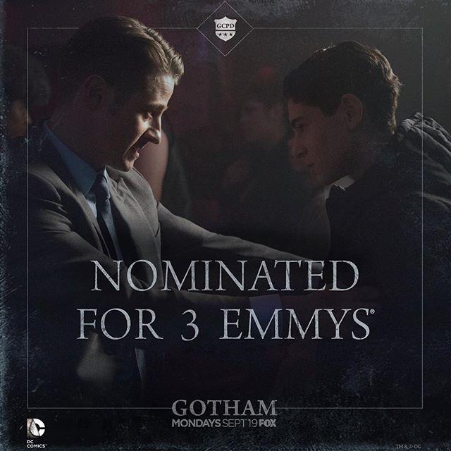 #Gotham will march on to the #Emmys.gothamonfox