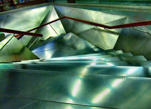 From the top Metal stairway in the Caixa Forum.  Madrid, Spain - 10/23/11