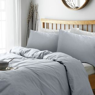 Buy Heart Of House Soft Grey Non Iron Percale Bedding Set  King At Argos.