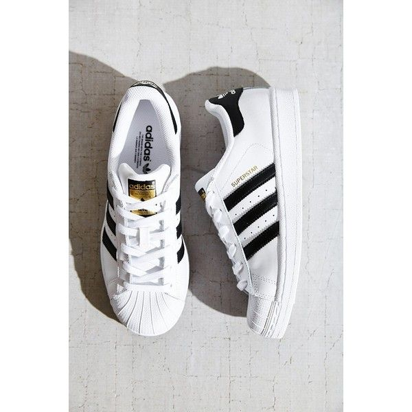 adidas Originals Superstar Sneaker ($80) ❤ liked on Polyvore featuring shoes, sneakers, black multi, black trainers, adidas trainers, black shoes, adidas y kohl shoes