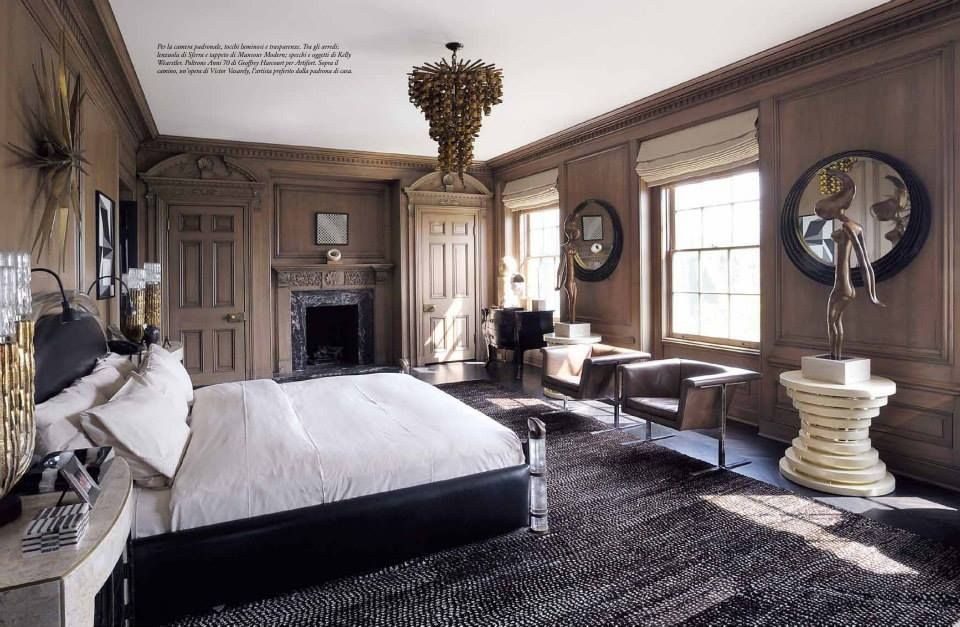kelly wearstler in marie claire maison spring 2014 master bedroom sculptures and home decor. Black Bedroom Furniture Sets. Home Design Ideas