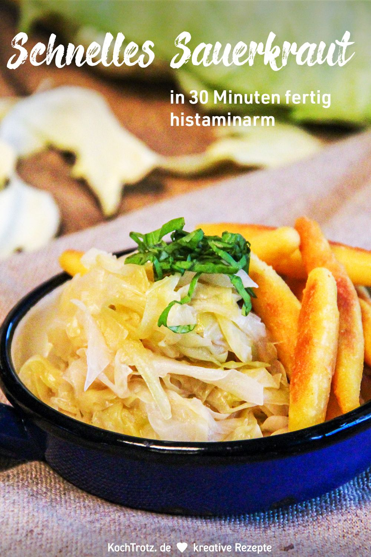 Rezept für schnelles Sauerkraut selbst herstellen