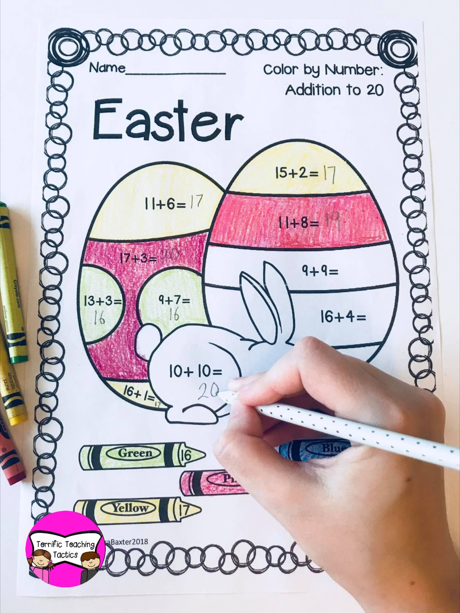 Easter Color By Addition
