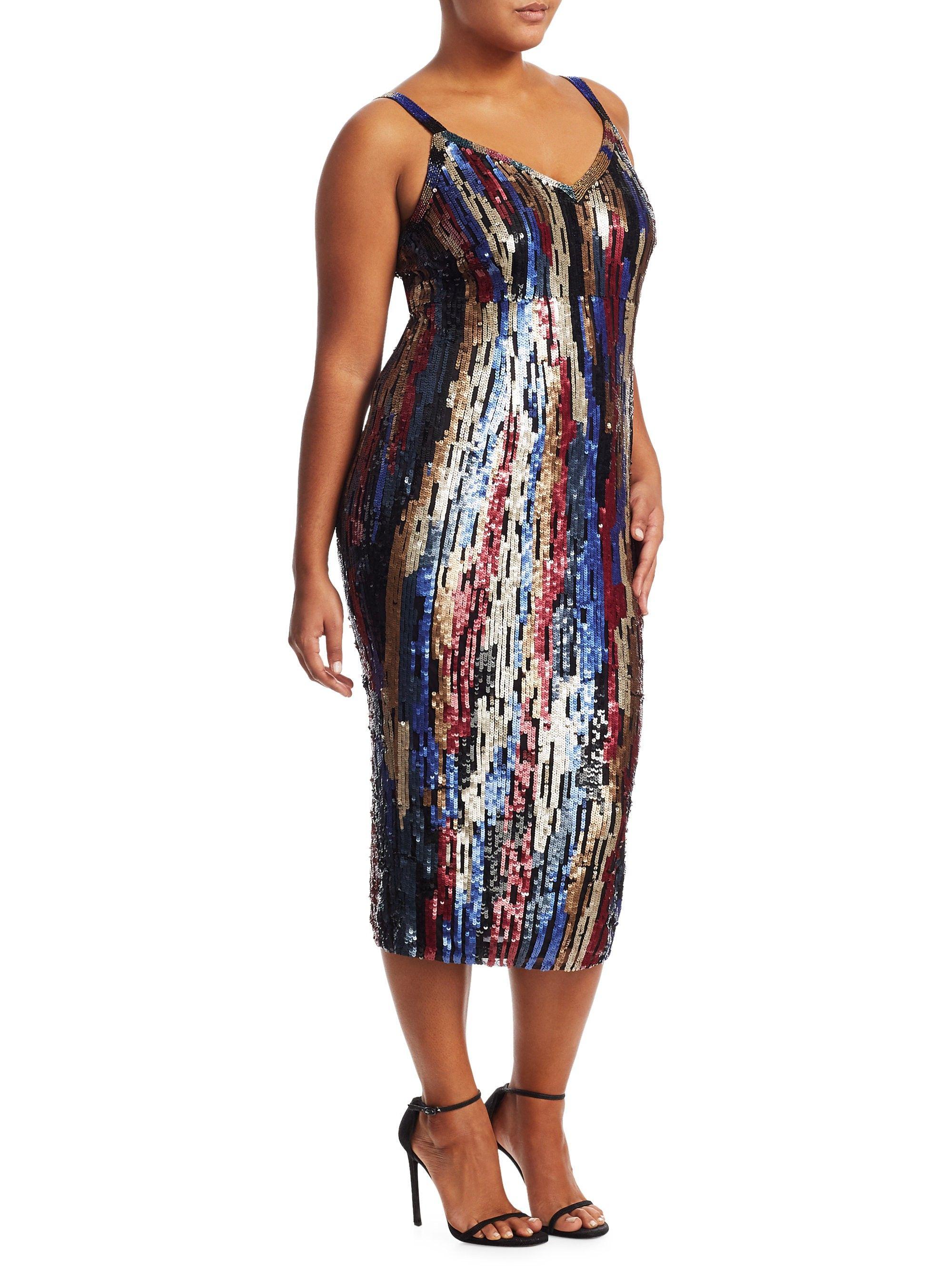 e1091244c Marina Rinaldi, Plus Size Sequin Embellished Dress - Multicolor 18W