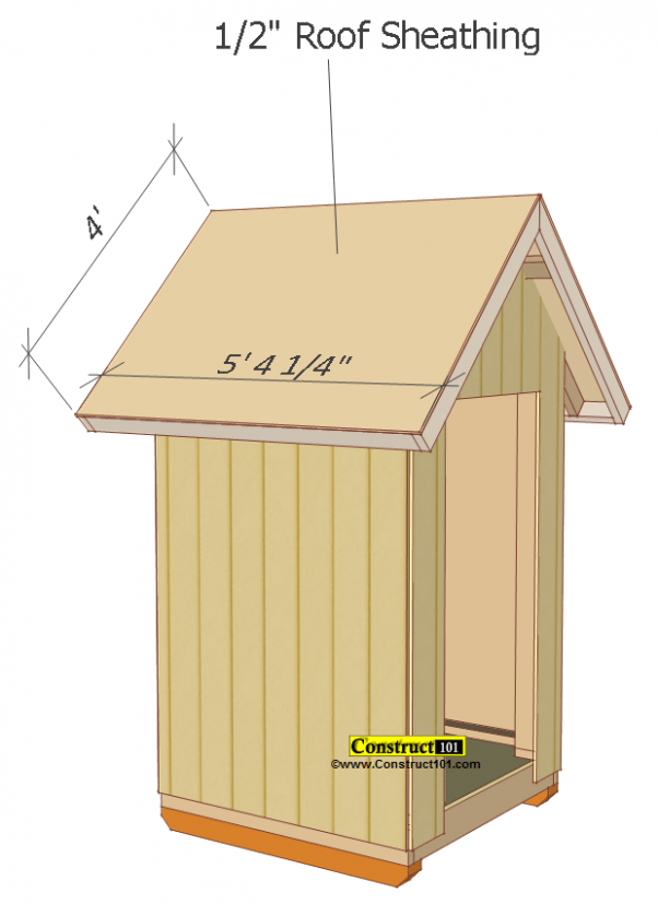 Small Shed Plans 4 X4 Gable Shed Roof Deck Plywood Buildingashed Deckbuildingideas Shedplans Small Shed Plans Small Sheds Shed Plans