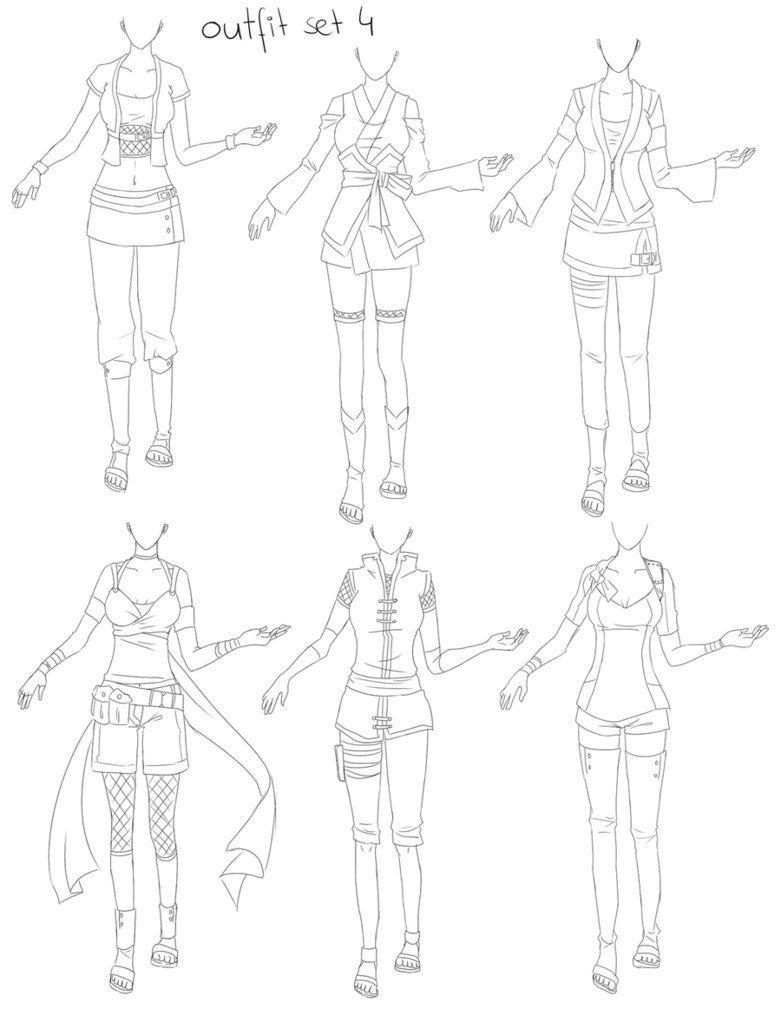 Outfit Set 4 Ninja By Kohane Chan On Deviantart Ninja Outfit Manga Clothes Anime Ninja