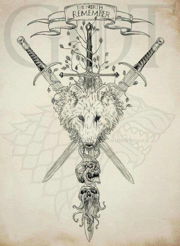 Resultado De Imagen Para Tatuajes De Got Lobos Huargos Valar