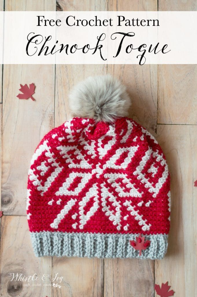 Team Canada Toque - Chinook Hat - Free Crochet Pattern | Oh so ...