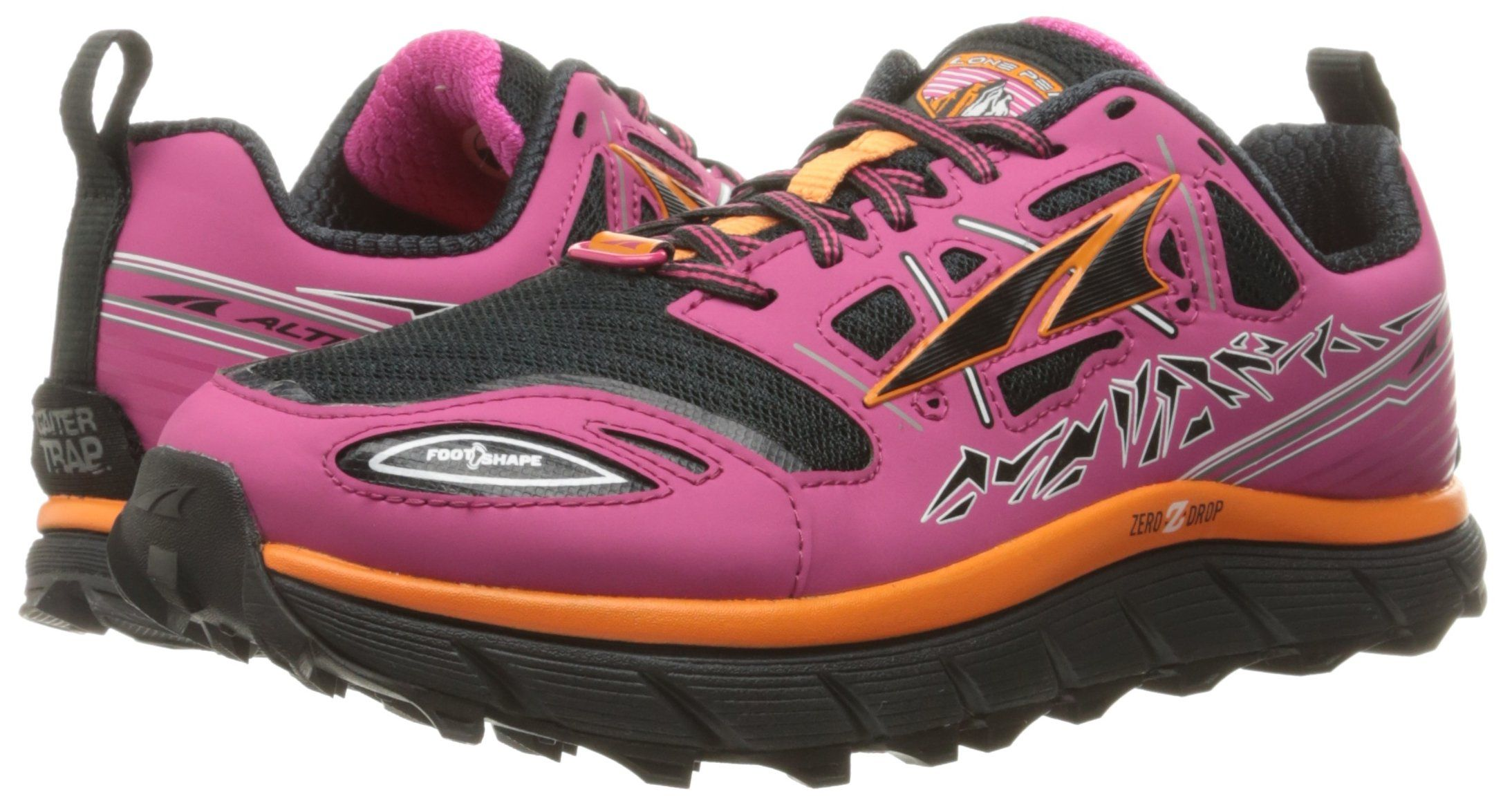 Altra Womens Lone Peak 3 Trail Runner PinkOrange 6.5 M US