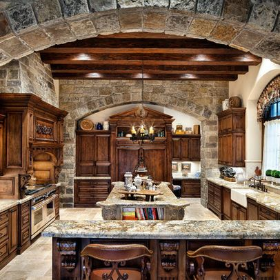 large kitchen designs. large dark wood kitchen in luxury home
