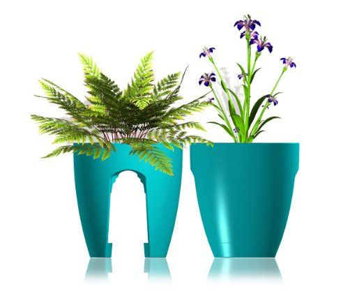 Amazon Com Greenbo Railing And Deck Planter Turquoise 2 Pack