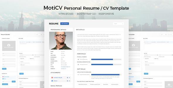 Cv Template Bootstrap 2 Templates Resume