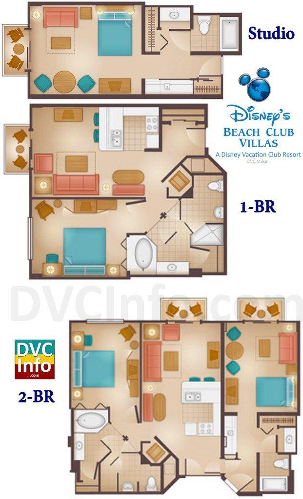 Disney S Beach Club Villas Floor Plans Beach Club Villas Disney Beach Club Beach Club Villas Disney
