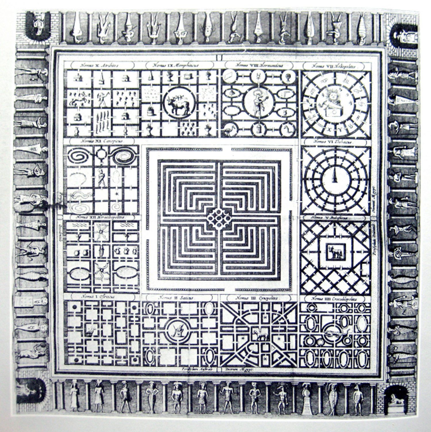 Reconstruction of the Egyptian labyrinth by Athanasius Kircher ...