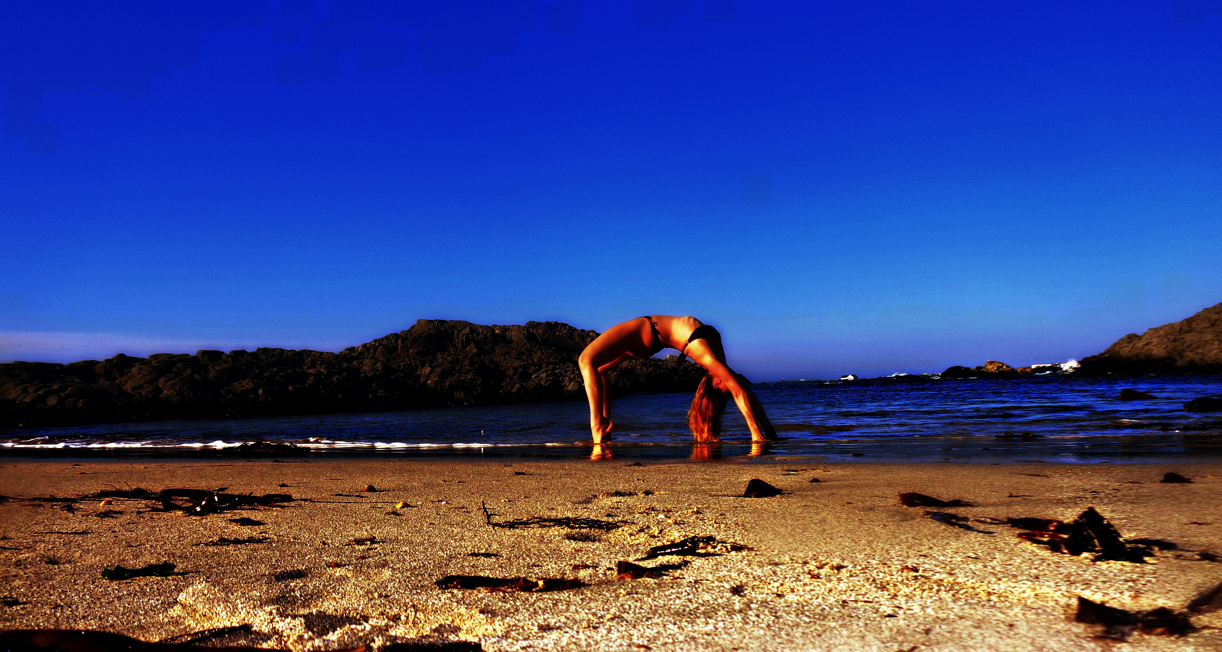 I simply love the feeling of the cold wateraround me.Makes me feel alive <3#BeachYoga #Love