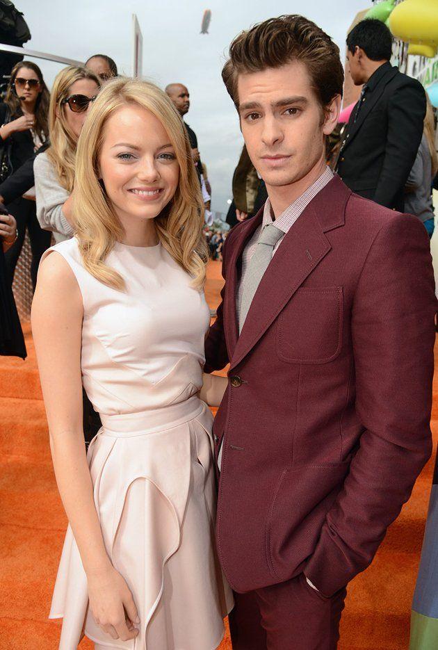2012 Nickelodeon Kids Choice Awards Emma Stone Andrew Garfield Emma Stone Celebs